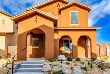 The Sedona / With an alley load garage, the exterior elevation of the Sedona is stunning.  At nearly 1700 square feet, this home features 3 bedrooms, an upper level loft, optional work station, and laundry room.  An open concept home, the Sedona is perfect for entertaining.  DesertViewHomes.com