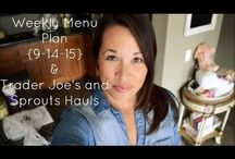 My Menu Plans & Grocery Hauls