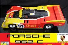 PORSCHE 962C LEGO / A 1:8 scale replica of the Le Mans 24 1988 Porsche 962C