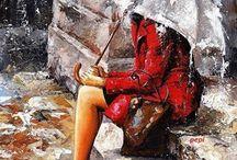 Дождь, осень, зонт