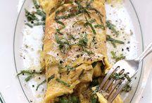 Breakfast / Pea omelet