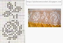 вязание филейное.
