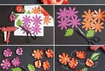 Papírové květiny