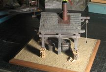 Modelism : a forge / diorama, smith, forge, smith, anvil, ironwork, metalwork