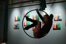 On the Aerial Hoop at Rising Goddess Fitness