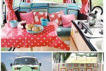 Campervans inside / Bullis und andere Campingbusse von innen.