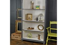 Art bookcases / Furniture styling. Painted  bookcases.