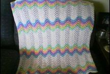 Baby blankets knitted