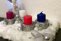 Home made Advent's angel candle