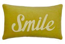 retro word cushions