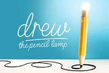 Drew The Pencil Lamp / Drew The Pencil Lamp, designed to inspire light bulb moments