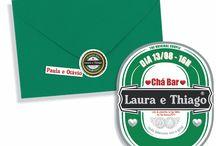 EVENTO LANTEJOULA - Chá Bar L&T / Chá bar feito pra um casal cervejeiro, cujo tema foi heineken. A identidade visual e papelaria do evento foi toda feita pela Lantejoula