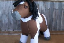Plush horse patterns