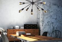 Modern Rustic Lighting / The modern rustic interior design trend is all about combining things together that you may not expect to work i.e. vintage and modern.
