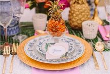 Tropical Trends / From home décor to weddings, tropical themes are a popular wedding trend at the moment.  Please note, these have not been created by Weddings by Emily Charlotte.