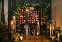 Autumnal Wedding with Copper / Warm and cosy rustic burnt orange and green colour pallets with touches of metallic to glam things up