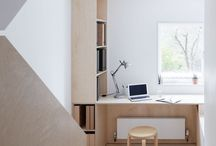 plywood desk design