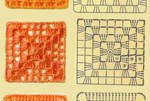 quadrados de croche