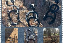 HorseShoe Creations / Custom created metal art!  Made from reclaimed horseshoes welded for durability