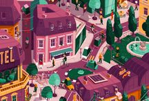Illustrated Cityscapes