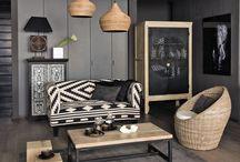 Deco salon noir et gris