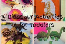 Dinosaurs / Dinosaur arts, crafts, sensory play and activity ideas for babies, toddlers and preschoolers.