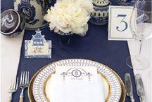 Blue and white theme / #luxuryweddingplanner #franceweddings #chateauweddingfrance #weddingceremony #weddinginspirations #corporate #event #planner #corporateeventplannerparis #elegant