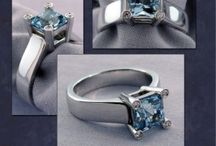 March Birthstone: Aquamarine / Aquamarine is the birthstone for those born in March. Aquamarine is exceptionally hard and has an outstanding glass-like luster. It is most famous for its breathtaking sea-blue colors which can range from light blue to dark blue. The name 'Aquamarine' was derived from an old Latin expression which meant 'seawater'