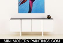 Mini Modern Paintings / We offer home decor for the modern dollhouse in 1:12 scale and 1:6 Playscale. We have a wide variety of contemporary art for the classic, mid-century or minimalist collector. They are sure to give maximum impact to your walls.