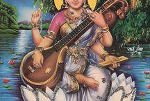 Expressing my Shakti: Saraswati / This is my virtual altar to my primary shakti, Saraswati.  Om Aim Sarasvatiye Namaha.