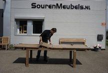 Teakholz Tisch Ausziehbar / Ausziehbarer Teak Esstisch aus recyceltem Old Teak