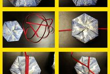 Creative Gift Wrapping Ideas / Creative gift wrapping ideas, hexagon-shaped boxes, holiday gift wrapping ideas, hostess gift wrapping ideas.
