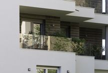 Home exteriors / New construction project in Bergamo, window frames made in Italy by Fratelli Bergamaschi
