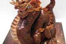 suikerpasta draken en dino