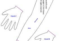 Mãos moldes