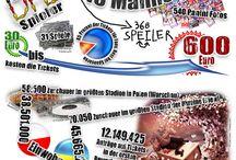 EM 2012 / Aller rund um die FUSSBALL EM 2012 .  Die 14. Europameisterschaft findet in Polen und der Ukraine vom 8. Juni bis zum 1. Juli 2012 statt. Die Spiele finden in 4 Stadien der Ukraine statt: KIEW, DONEZK, LEMBERG, CHARKIW und in 4 Stadien in Polen: WARSCHAU, POSEN, BRESLAU, DANZIG. Bei der 14. EM treten 16 Mannschaften an: POLEN, GRIECHENLAND, RUSSLAND, TSCHECHIEN, NIEDERLANDE, DÄNEMARK, DEUTSCHLAND, PORTUGAL, SPANIEN, ITALIEN, IRLAND, KROATIEN, UKRAINE, SCHWEDEN, FRANKREICH, ENGLAND.