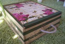 cajas madera decorada