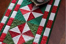Quilting runners table