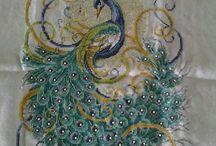 Peacock - Páva / Cross stitch, keresztszemes hímzés