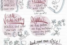 Sketchnoting / Visual Notetaking / Words + drawing = Better understanding & memory
