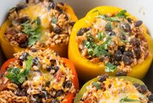 Stuffed peppers in slow cooker