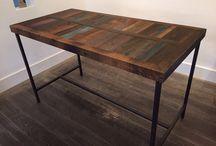 Houten tafels van Oud Hout. / Prachtige eigengemaakte tafel, bartafel van Oud Hout. #oud hout #houten tafel #houten bartafel.