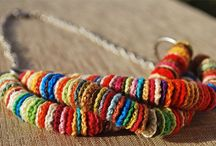 Knit and crochet jewellery