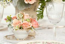 TEA  flowers / by Vintage Dish Rental