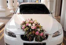 Esküvői autó dekor