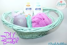 DIY Pamper Gift Basket / Check out this awesome DIY Pamper Basket for someone special ft SoftSoap #FreshAndGlow #ad