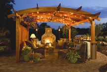 Backyard Lifestyles / Amazing backyards that are a continuation of your home. Outdoor kitchens, offices, fire pit areas and BBQs. Visit us: cedarshed.com