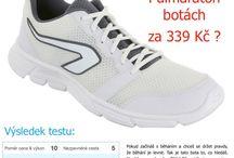 Testy běžeckých bot a materiálu