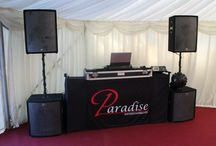 Dj Set Up / Paradise Entertainment offers various packages for all occasions, Weddings, Birthdays, Corporate Events, Christmas Parties and much much more. Please contact us for more details.