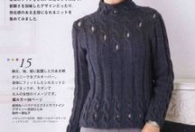 Knitted pullovers for women